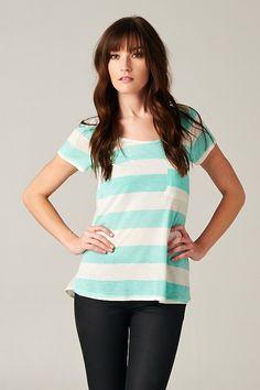 Mint Striped Top