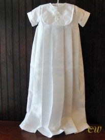 Douglas boy's christening gown with celtic cross