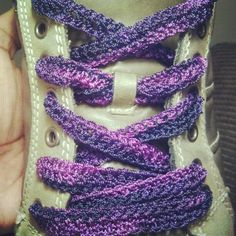 Crochet Shoestrings EXCELLENT IDEA! why didn't we think of this sooner!