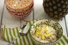 Pina Colada Overnight Oats|Craving Something Healthy
