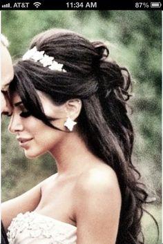 Wedding hair with star headband