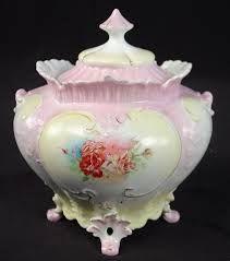 Limoges France Hand Painted Roses Biscuit Cracker Jar - Поиск в Google