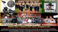 Marines 241st Birthday Party Nov 10 2016 6:30PM Woodys Bar Decatur IL @heraldandreview PLEASE SHARE THIS EVENT...This is the 8th year that Woody's has hosted this event and it continues to get bigger and better each year. Last year we had Marines from WWII Korea Vietnam Desert Storm Iraq and Afghanistan. We are expecting it to be even larger this year!!! All Marines and Military Veterans are welcome and encouraged to join us in this patriotic celebration of American Family!