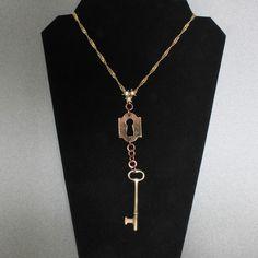Steampunk Keyhole Necklace by oscarcrow on Etsy, $20.00