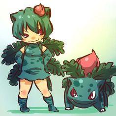 Plus sized characters to cosplay Ivysaur from Pokemon - Gijinka art Pokemon Bulbasaur, Gijinka Pokemon, My Pokemon, Pikachu, Bulbasaur Costume, Pokemon Pokemon, Cosplay Pokemon, Anime Cosplay, Digimon