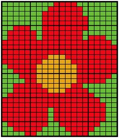 Free knitting chart of a large intarsia flower, suitable for jumpers/sweaters, afghan squares and other projects. Intarsia Knitting, Intarsia Patterns, Knitting Charts, Knitting Patterns, Crochet Patterns, Cross Stitch Designs, Cross Stitch Patterns, Burning Flowers, Flower Chart