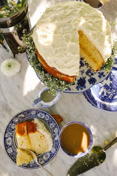 Looks amazing must try! Perhaps with Megs homemade lemon curd! @breadandbarrow  Cream Cheese Lemon Cake & Coffee, from-The Londoner