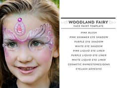 Using Make-Up Create Several Face Paint Designs with Easy To Use Free Templates