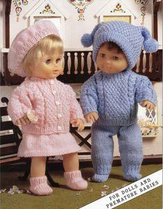 Baby Dolls Knitting Pattern Baby Dolls sets trouser by Minihobo