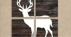Deer Art, Deer Prints, Wood Background, Set of Four 8x10 Prints, Deer Silhouette, Rustic Home Decor | Nursery/toddler room ideas | Pinterest | Deer Art, Wood B…