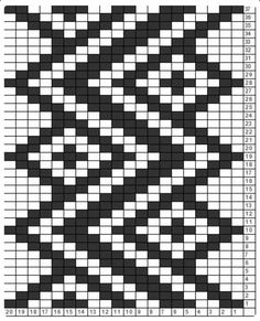 Vertical Zigzag Tricksy Knitter Charts: Vertical ZigZag by Alison; not peyote - loom Tapestry Crochet Patterns, Bead Loom Patterns, Weaving Patterns, Stitch Patterns, Knitting Charts, Loom Knitting, Knitting Stitches, Knitting Patterns, Fair Isle Knitting