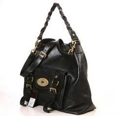 Popular Mulberry Hobo Satchel Bag Natural Leather Black