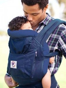 Baby Carriers for Men For a man who wants a baby carrier that oozes machismo, the unisex carriers on the market are simply too ambiguous. To meet the increasing demand for carriers that boldly assert their manliness, Ergobaby has the supply.