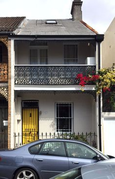 House Color Schemes, Colour Schemes, House Colors, Terrace House Exterior, Bungalows, 2nd Floor, Architecture, Floors, Sydney