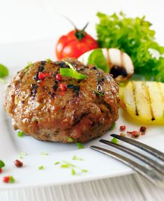 Garlic and Worcestershire Burgers Goat Recipes, Fodmap Recipes, Gluten Free Recipes, Cooking Recipes, Healthy Recipes, Greek Recipes, Healthy Foods, Meat Patty Recipe, Patties Recipe