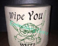 embroidered Toilet Paper Gag Gift 1st by EmbroideryGuru on Etsy