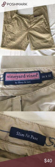 Vineyard Vines khaki chino pant Men 34x32 Vineyard Vines by Shep & Ian khaki chino pant Men 34x32 Vineyard Vines Pants Chinos & Khakis