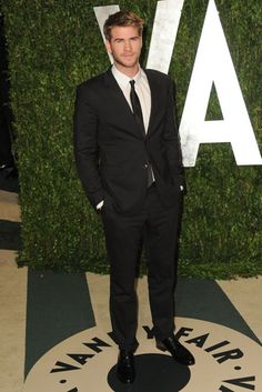 Liam Hemsworth.. If you want your man to look as good as him, we now off a slim fitting tuxedo