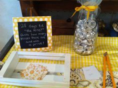 The kiss game for bridal showers or any party! Guess how many kisses are in the jar and win a prize!