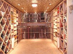 Wine Cellar with Copper Ceiling