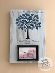 Thank you for visiting our store! This frame is a great guestbook alternative for your baby shower and makes for...