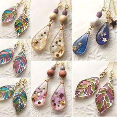 Pin by なおみ on 作ってみたいレシピ Diy Uv Resin, Diy Resin Crafts, Jewelry Crafts, Resin Jewelry Molds, Polymer Clay Jewelry, Beaded Beads, Beaded Jewelry, Handmade Accessories, Handmade Jewelry