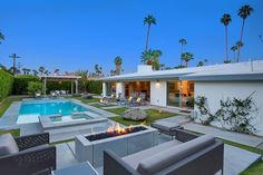 Champagne Dream is a stunning three-bedroom villa that seamlessly blends the mid-century Palm Springs aesthetic with crisp, modern lines. Hidden in the historic Deepwell area, a quick tour around this central neighborhood will reveal glamour and style which drew Hollywood's elite to the desert.