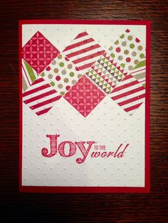Maggie Stamps Blog Stampin' Up! Christmas card
