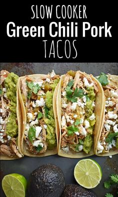 Slow cooked seasoned pork with green chilies, c… Sponsored Sponsored Green Chili Pork Carnitas Tacos. Authentic Mexican Recipes, Mexican Food Recipes, Mexican Dinners, Green Chili Pork, Green Chili Recipes, Shredded Pork Green Chili Recipe, Mexican Green Chili Recipe, Green Chili Enchiladas, Pork Carnitas Tacos