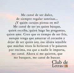 Me canse!