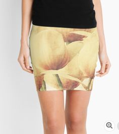 Superb pencil skirt with creamy yellow tulips.  tulips, bouquet, flowers, garden, cream, yellow, pastel, tee shirt, tees, duvet cover, bed cover, bed, ipad, skin, mug, cup, pencil skirt, scarf, yannik hay