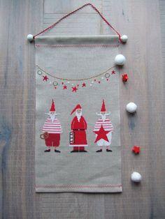 Stickband Nikoläuse *Acufactum*Tilda*Maileg*Fingerhut*Weihnachten*Landhaus*   eBay