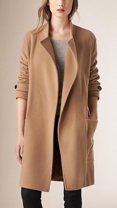 Camel Relaxed Fit Wool Cashmere Coat - stylearc stella coat inspo