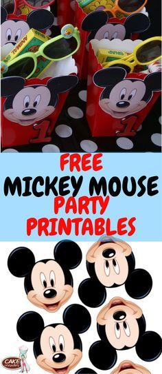 Free Mickey Mouse DIY favor printables