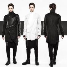 Byungmun Seo, I'm Censored collection for autumn/winter 2014 includes structured jackets with black coated contrast, structured low crotch trousers as well as black coated contrast, structured jersey t-shirts, funnel collar coats and quilted oversized reversible jumpers