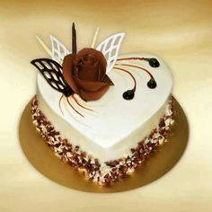 Cake Decorating Techniques, Cake Decorating Tips, Food Cakes, Cupcake Cakes, Cupcakes, Cake Recipes, Dessert Recipes, Decoration Patisserie, Heart Shaped Cakes