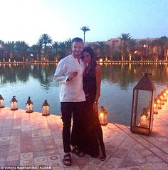 Elegant setting: Victoria also shared a stunning snap from her husband's party, the couple...