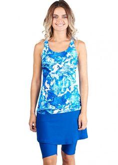 Maya Swim Top with Long Swim Leggings Swim Sets, Swim Top, Mix Match, Workout Tops, Skort, Bikini Bottoms, Swimming, Tank Tops, Stylish