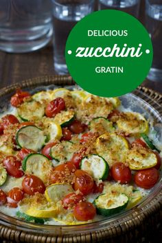 It's zucchini season. I'm jumping in with a zucchini gratin that's loaded with garlic and some nice cheesy breadcrumbs. Care to jump in with me?