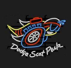 Dodge Scat Pack Neon Sign