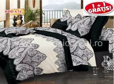 OFERTĂ CUVERTURI 1 + 1 GRATIS | Cuvertura Bumbac Satinat COD A34 | Cod, Comforters, Blanket, Furniture, Home Decor, Creature Comforts, Quilts, Decoration Home, Room Decor