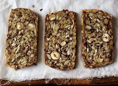 The Life-Changing Loaf of Bread Makes 1 loaf  1 cup sunflower seeds ½ cup flax seeds ½ cup hazelnuts or almonds 1 ½ cups rolled oats 2 Tbsp. chia seeds 4 Tbsp. psyllium seed husks (3 Tbsp. if using psyllium husk powder) 1 tsp. fine grain sea salt  1 Tbsp. maple syrup (for sugar-free diets, use a pinch of stevia) 3 Tbsp. coconut oil or ghee, melted 1 ½ cups water