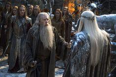 The Hobbit: Battle of the Five Armies. Gandalf and Thranduil (Ian McKellen and Lee Pace) Gandalf, Legolas, Ian Mckellen, Tolkien, Azog The Defiler, Army Online, Jackson, Maze Runner Movie, Hd Widescreen Wallpapers