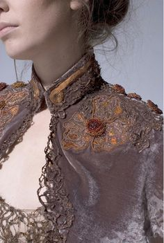 Edwardian-inspired velvet bolero jacket Hand Lock Prize for Embroidery 10th Anniversary
