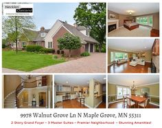 Just Listed! This extraordinary estate was once the home of professional wrestler, and former MN Governor Jesse Ventura. Custom built on 1+ manicured acres providing ultimate privacy & beautiful pond views, located in the premier Delgany community in the heart of Maple Grove. Extensive updates blend thoughtful design, superior quality and stunning amenities. Grand 2-story foyer w/breathtaking winding staircase. 3 luxury suites (Main floor owner's suite w/ stone walk-in shower, walk-in…