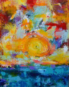 Original Art, My Arts, Joy, Sunset, The Originals, Abstract, Water, Artwork, Painting