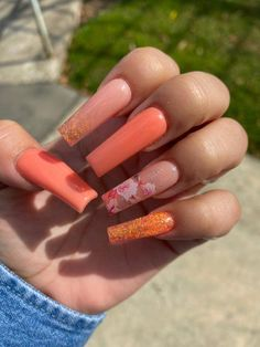 @nayelly_nails  #AcrylicNailsGlitter Colourful Acrylic Nails, Colored Acrylic Nails, Cute Acrylic Nails, Acrylic Nail Designs, Aycrlic Nails, Shiny Nails, Hair And Nails, Dream Nails, Stylish Nails