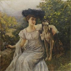 Sometimes even your dog won't look at your frilly black bonnet.  Sorta goth wrapping paper boinked down on her head. Cesare Saccaggi