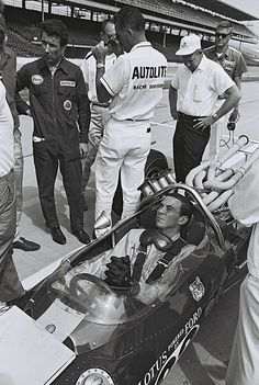 Jim Clark at Indianapolis, 1965