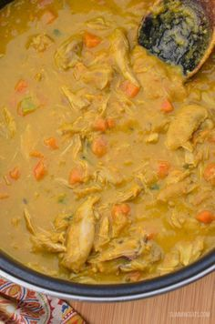 Slimming Eats Coconut Chicken and Sweet Potato Curry - gluten free, dairy free, paleo, Slimming World, Instant Pot and Weight Watchers friendly (Slow Cooker Chicken Curry) Dairy Free Recipes, Paleo Recipes, Cooking Recipes, Gluten Free, Cheap Recipes, Entree Recipes, Cheap Meals, Potato Recipes, Dinner Recipes